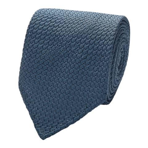 Thomas Pink Teal Large Grenadine Tie