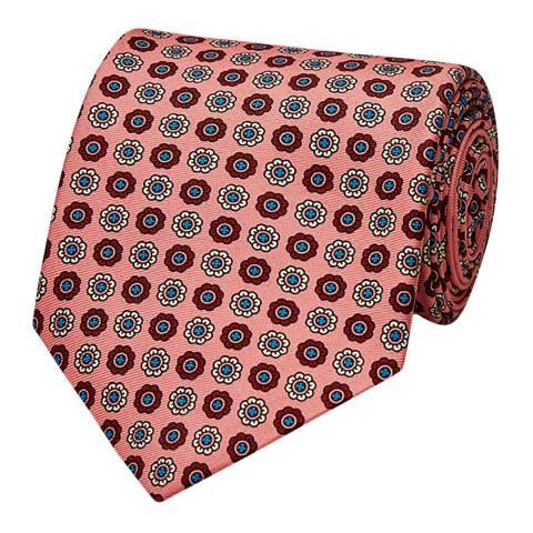 Thomas Pink Pink Floral Medallion Tie