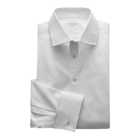 Thomas Pink White Core Poplin Tailored Fit Shirt