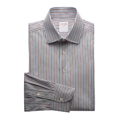 Thomas Pink Multi Two Tone Stripe Regent Tailored Fit Shirt