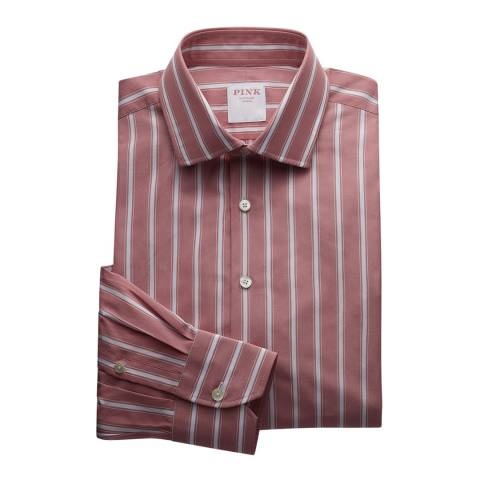 Thomas Pink Pink Stripe Argento Tailored Fit Shirt