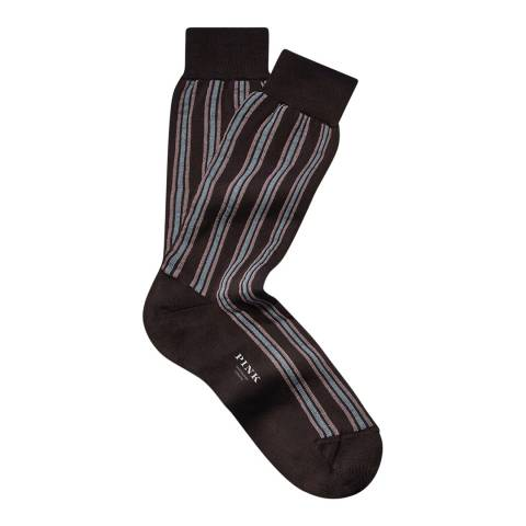 Thomas Pink Multi Vertical Stripe Socks