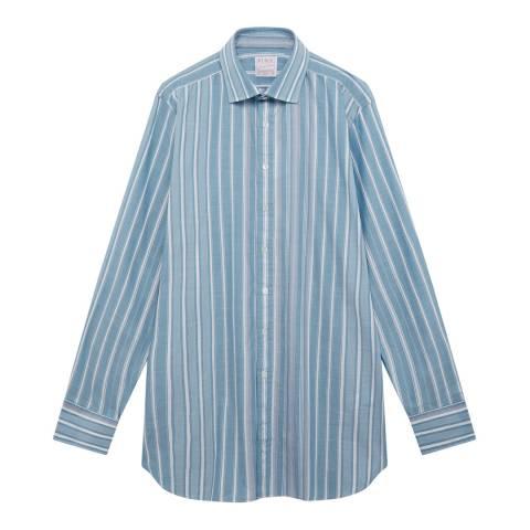 Thomas Pink Blue Stripe Vintage Engineered Tailored Shirt