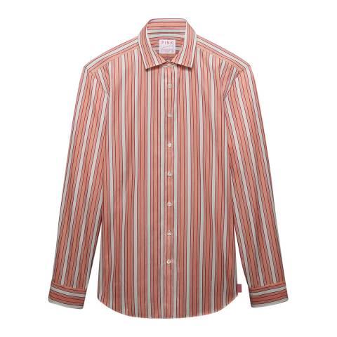 Thomas Pink Red Stripe Vintage Portland Slim Fit Shirt