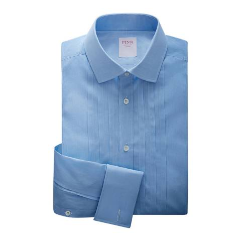 Thomas Pink Pale Blue Evening Voile Tailored Shirt
