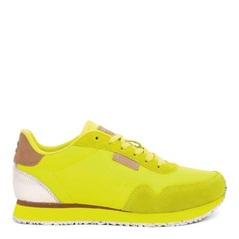 Woden Neon Yellow Nora II Leather Sneakers
