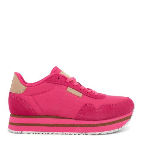 Woden Fuchsia Nora II Plateau Leather Sneakers