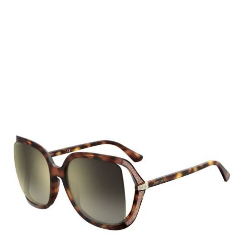 Jimmy Choo Women's Dark Havana Jimmy Choo Sunglasses 60mm