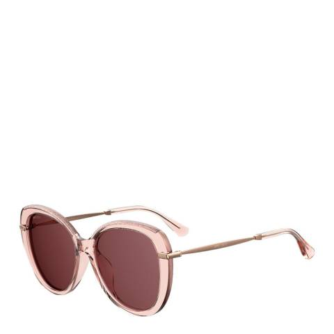 Jimmy Choo Women's Pink Glitter Jimmy Choo Sunglasses 56mm