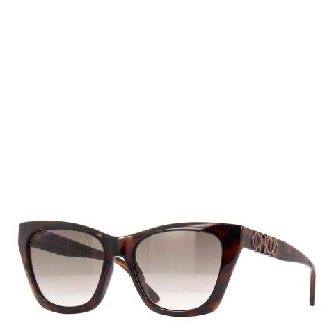 Jimmy Choo Women's Dark Havana Jimmy Choo Sunglasses 55mm