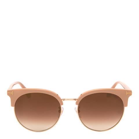 Tom Ford Women's Beige Sunglasses 56mm