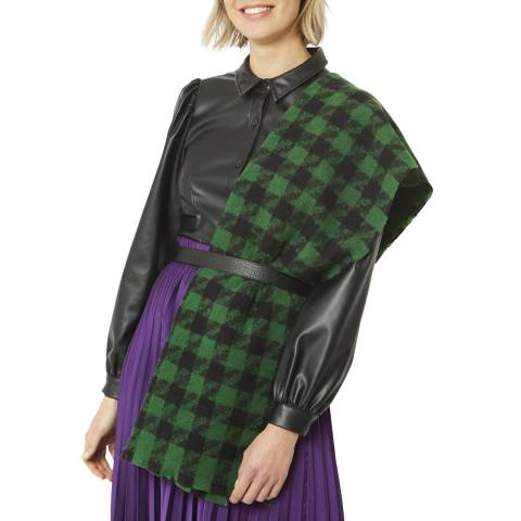 JayLey Collection Green/Black Cashmere Wrap