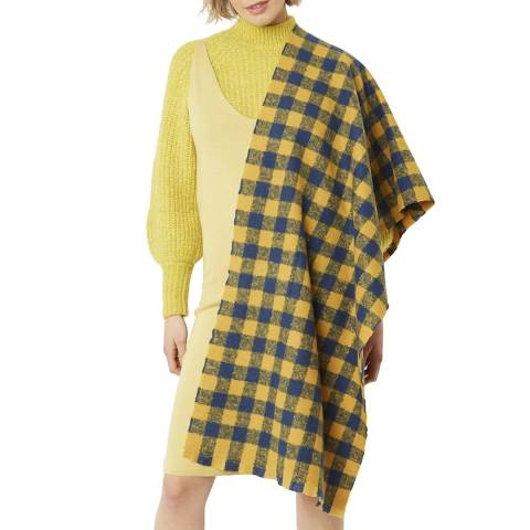 JayLey Collection Yellow/Blue Cashmere Wrap