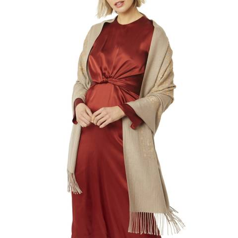 JayLey Collection Beige Cashmere Scarf
