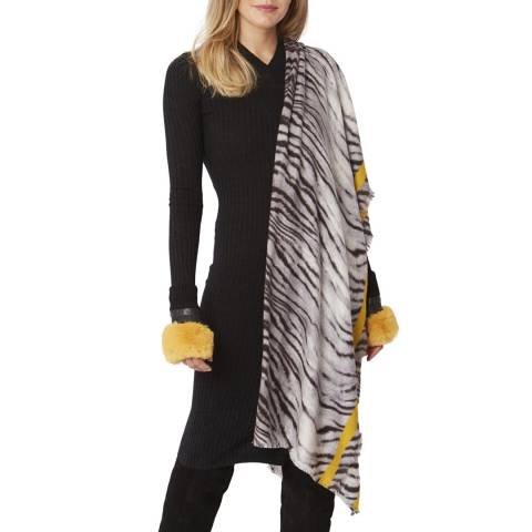 JayLey Collection Black/White Cashmere Wrap
