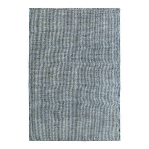 Rug Republic Blue Nordic Wool Rug, 183x122cm