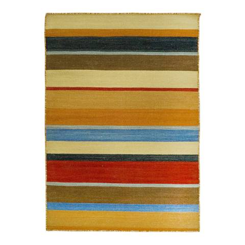 Rug Republic Gold/Multi Nordic Wool Rug, 183x122cm