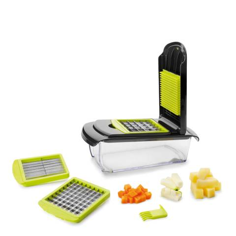 Lock & Lock VEGETABLE SLICER WITH 3 CUTTERS AND 1 CLEANER - STRIPS AND DICES 27X12