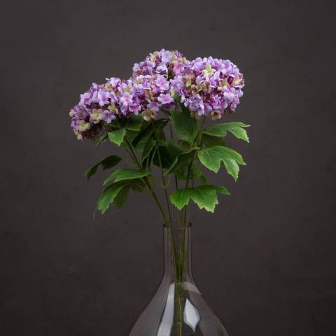 Hill Interiors Vibrant Purple Viburnum Style Spray