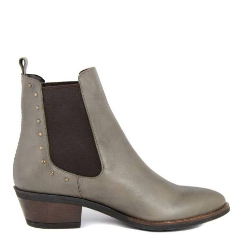 Pelledoca Beige Leather Vintage Effect Texas Boot