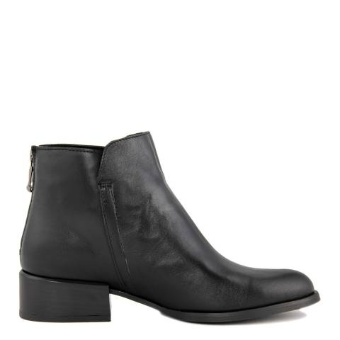 Gusto Black Shine Leather Portofino Ankle Boot