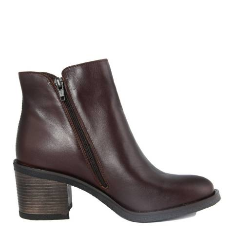 Gusto Brown Leather Kent Ankle Boot