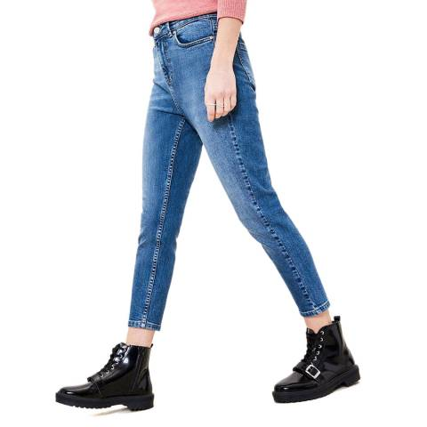 Oasis Blue Authentic Crop Annie Stretch Jeans