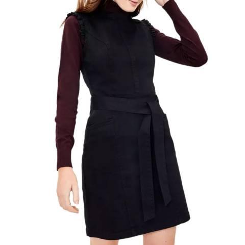 Oasis Black Frill Shift Dress