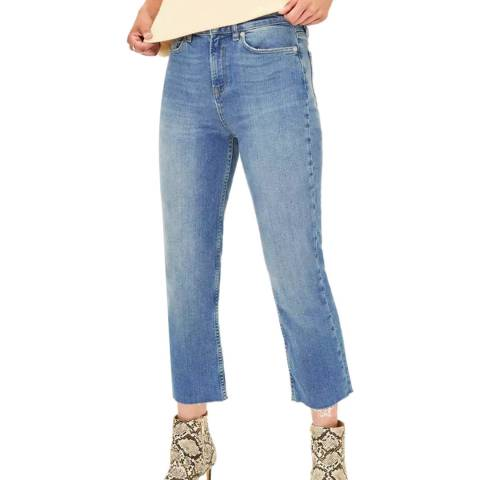 Oasis Blue Edie Straight Leg Stretch Jeans