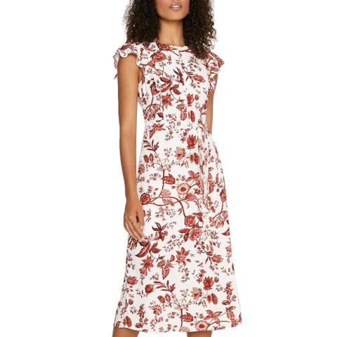 Oasis Floral Frill Sleeve Midi Dress