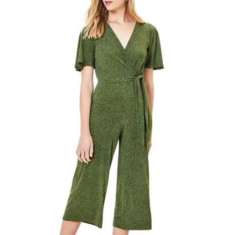 Oasis Green Animal Tie Side Jumpsuit
