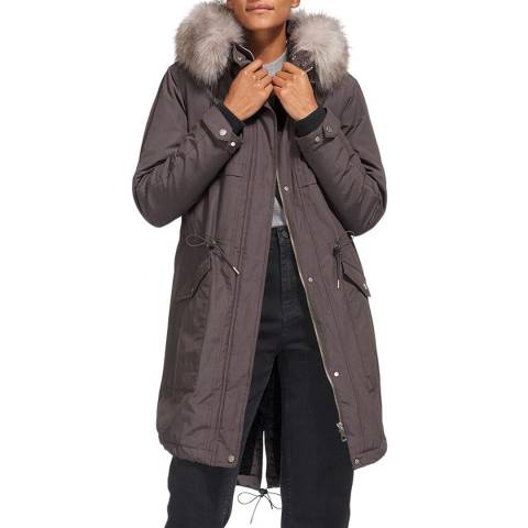 WHISTLES Warm Grey Cassie Casual Parka
