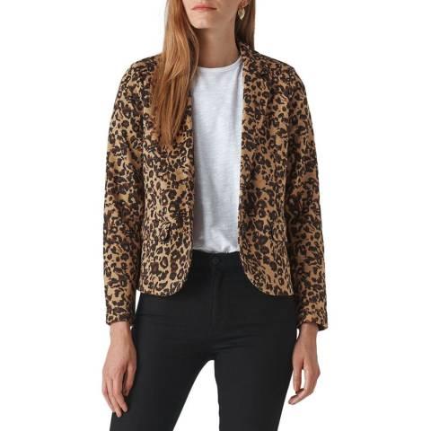 WHISTLES Multi Animal Jacquard Jersey Jacket