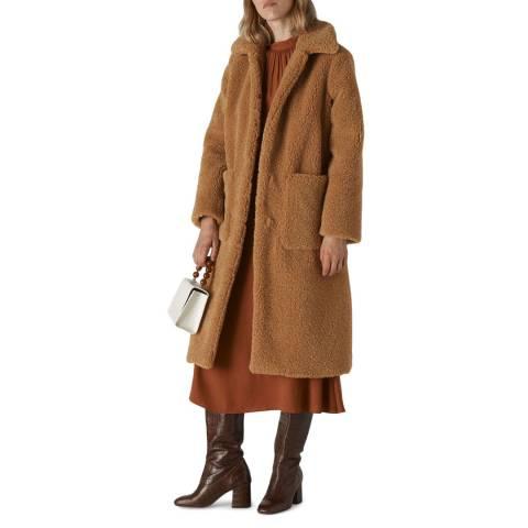 WHISTLES Neutral Teddy Longline Coat