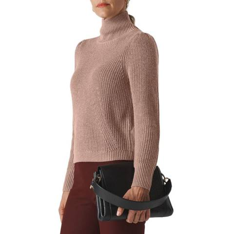 WHISTLES Neutral Puff Sleeve Roll Neck Jumper