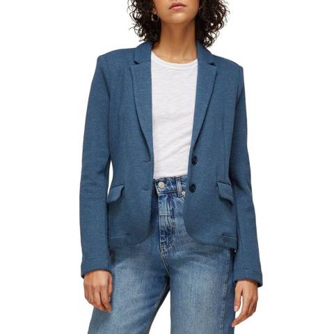 WHISTLES Blue Slim Jersey Jacket
