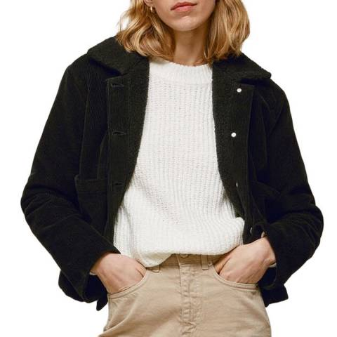 WHISTLES Black Utility Cord Cotton Jacket