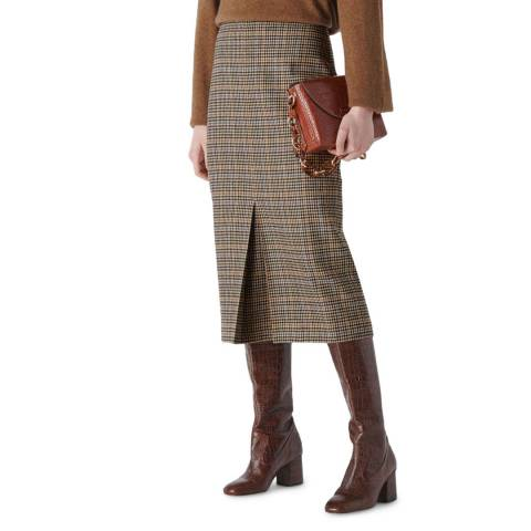 WHISTLES Multi Houndstooth Pencil Midi Skirt