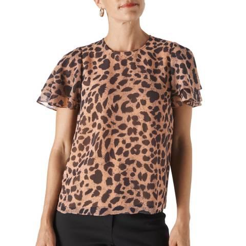 WHISTLES Multi Brushed Cheetah Shell Top