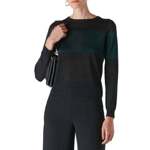 WHISTLES Multi Colour Block Sparkle Jumper