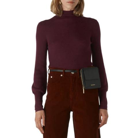 WHISTLES Deep Red Merino Wool Jumper