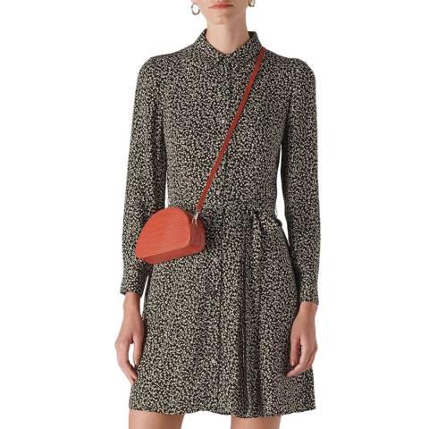 WHISTLES Black/Multi Autumn Floral Shirt Dress