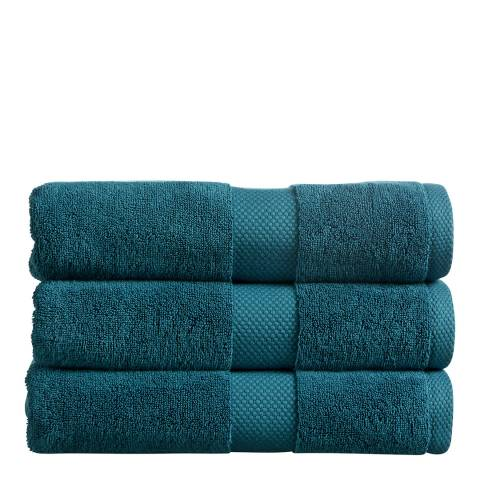Christy Newton Pack of 6 Face Cloths, Teal