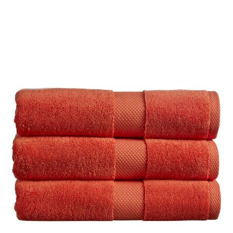 Christy Newton Pack of 6 Face Cloths, Paprika