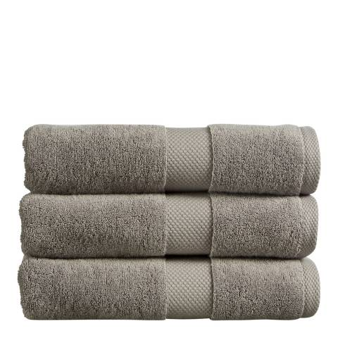 Christy Newton Pair of Hand Towels, Dove Grey