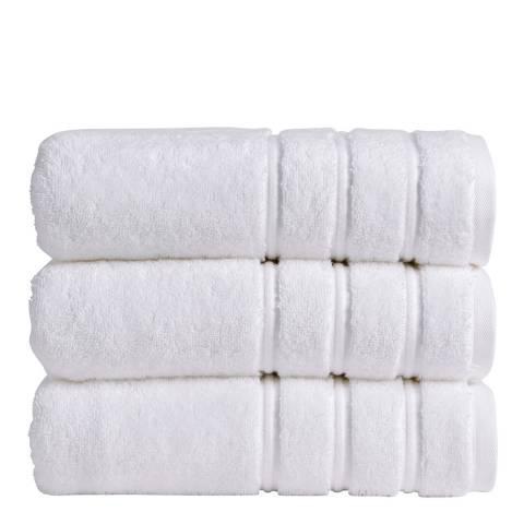 Christy Antalya Pair of Hand Towels, White