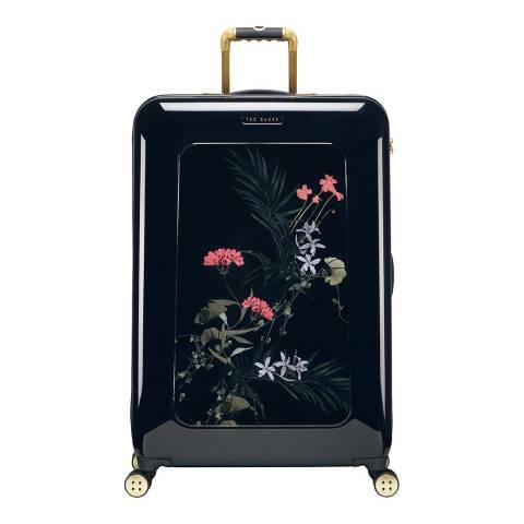 Ted Baker Black Take Flight Highland Large 4 Wheel Suitcase