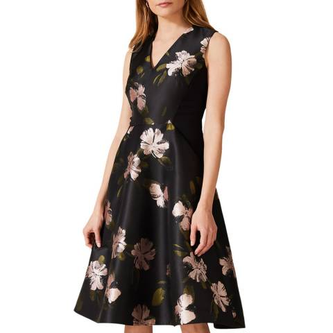 Phase Eight Black Sandy Floral Dress