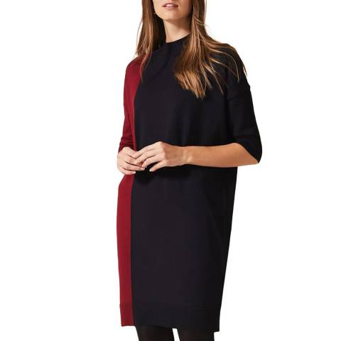 Phase Eight Navy Cadi Colourblock Dress
