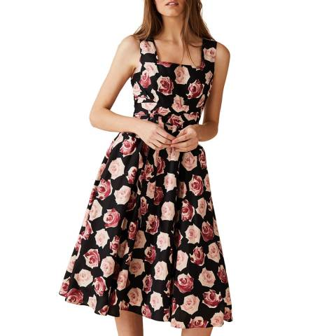 Phase Eight Black Judith Floral Dress